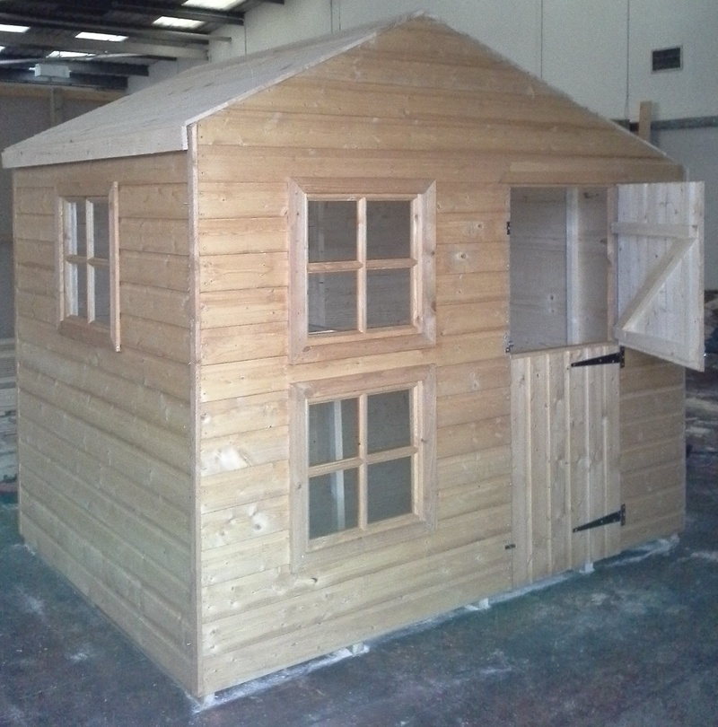 Two Storey Wooden Playhouse 6 39 X8 39 Max Timber Sheds