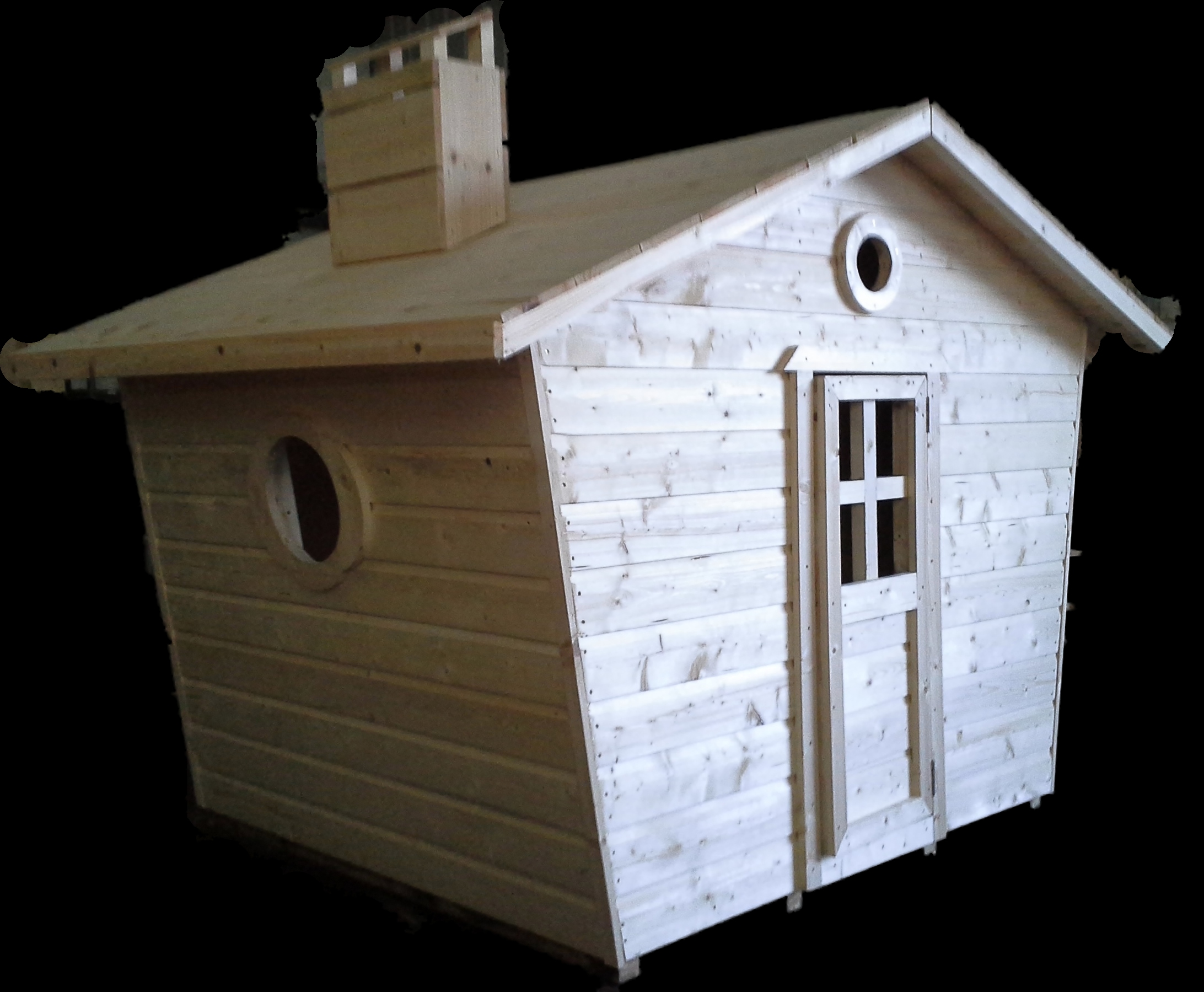 Wonderful wooden playhouses timber playhouses for kids for Wooden playhouse with garage