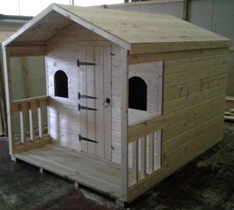 Garden sheds wooden garages workshops sheds timber for Wooden playhouse with garage