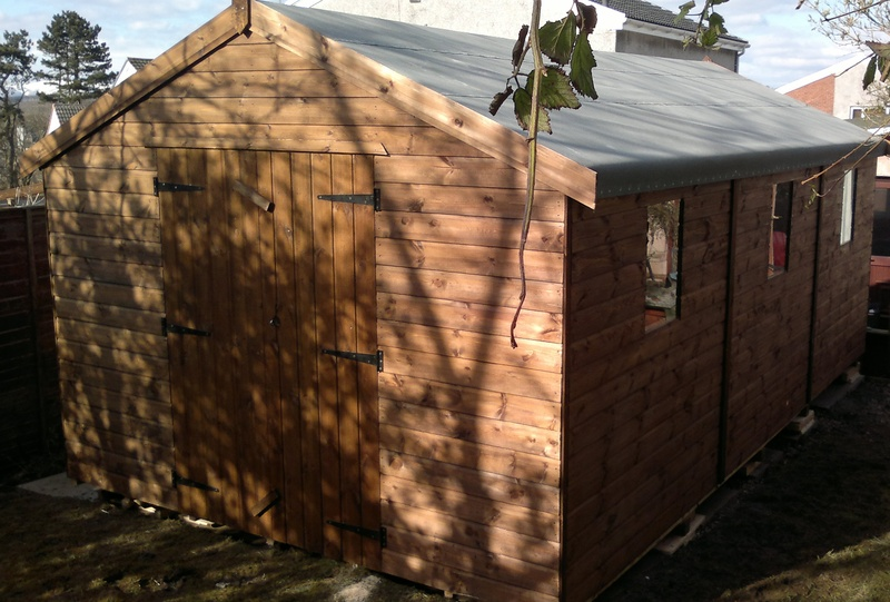heavy duty wooden shed workshop - Garden Sheds Edinburgh